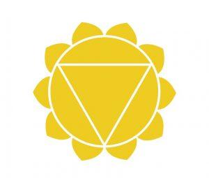 黄色の第3チャクラの図