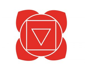 赤い第1チャクラの図