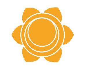 オレンジの第2チャクラの図