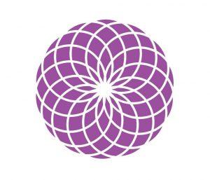 紫の第7チャクラの図